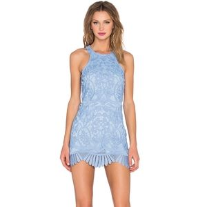 [Lovers + Friends] Caspian Lace Shift Dress Blue